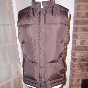 J CREW BROWN DOWN VEST ~ XS ~ CLASSIC STYLE!!!!